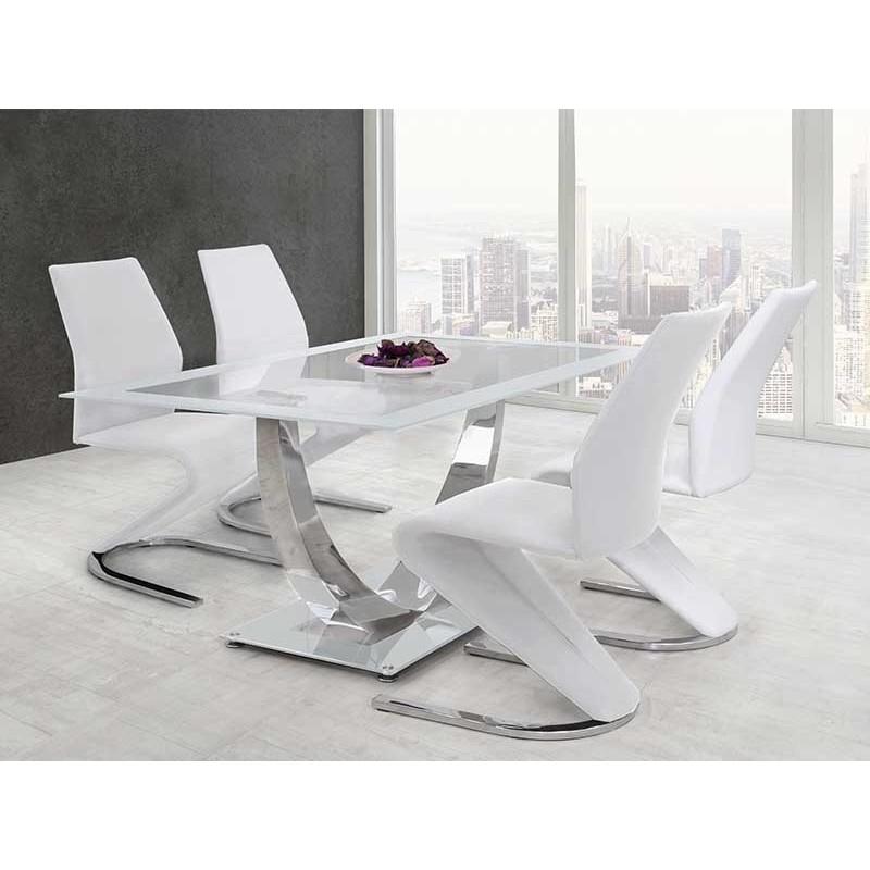 Cabezal tapizado polipiel versalles con patas blanco - Sillas comedor blancas modernas ...
