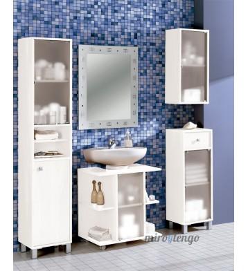 Torre de baño o aseo Pandora blanco