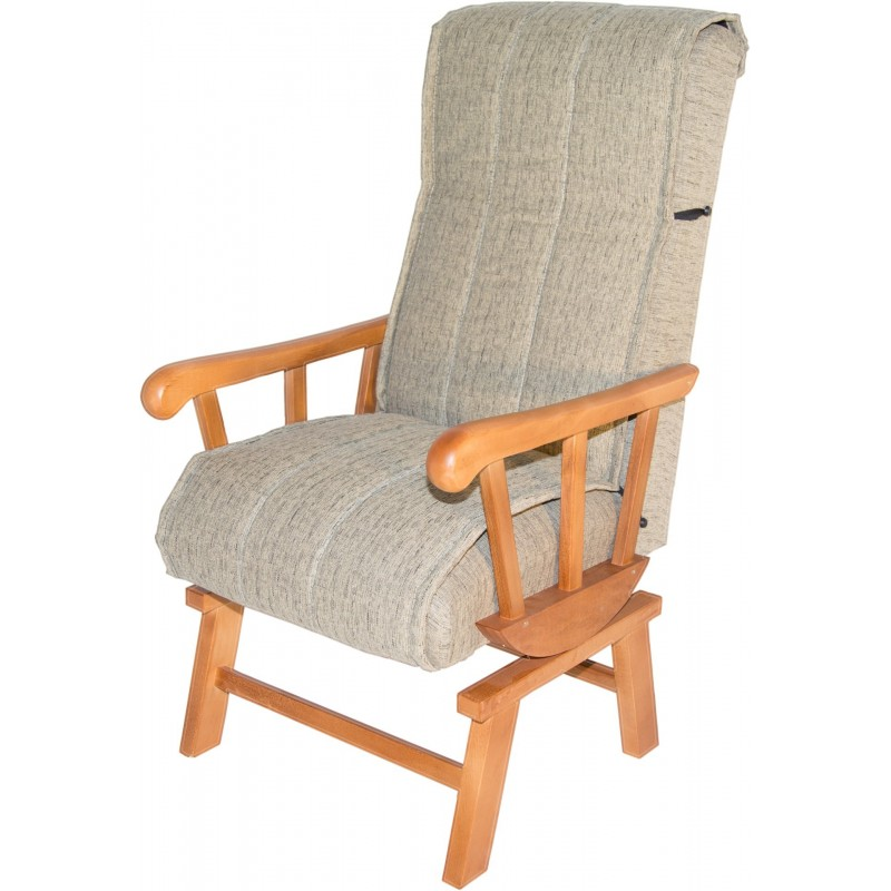 Sill n balanc n tapizado arena madera 59x110x69cm for Balancin madera jardin