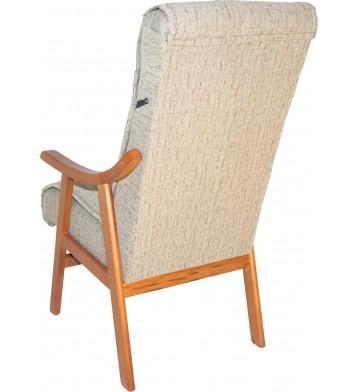 Sillon Turin de madera maciza. Tapizado arena
