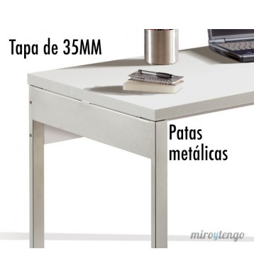 Mesa despacho Boston blanco brillo