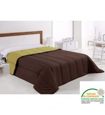 Bonitex - Edredón Nórdico verde pistacho y marrón.