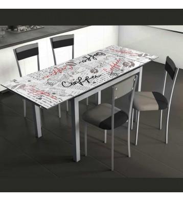 Pack mesa y 4 sillas Coffe