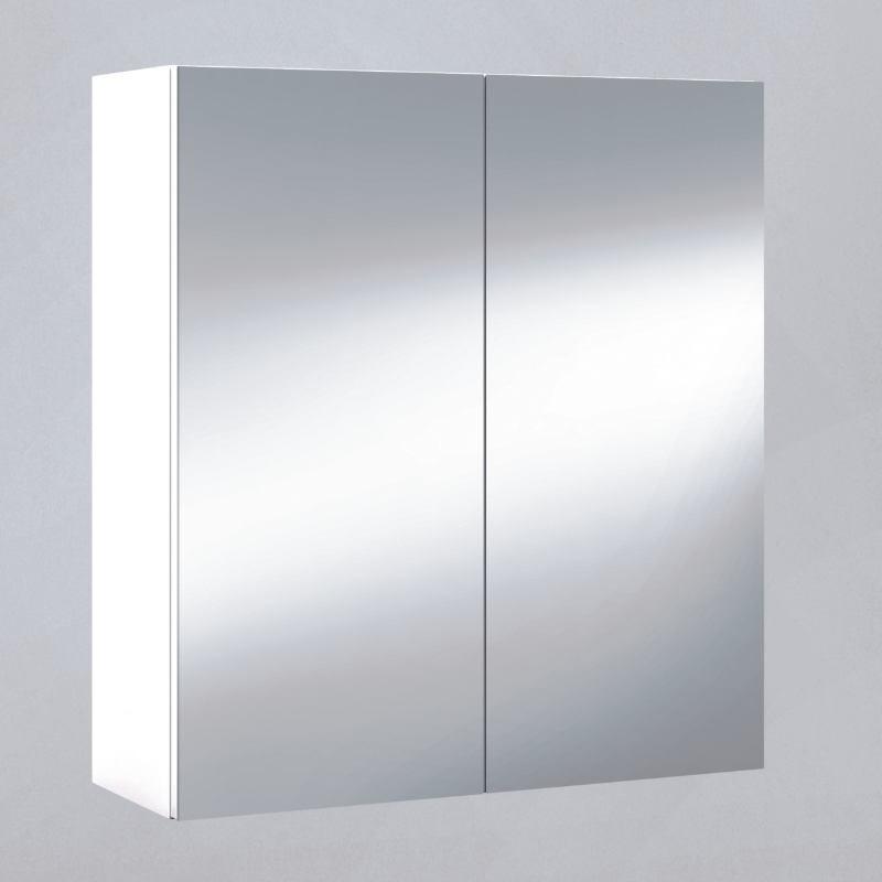 Armario ba o aseo con espejo blanco brillo 60x65x21cm - Armario espejo bano ...