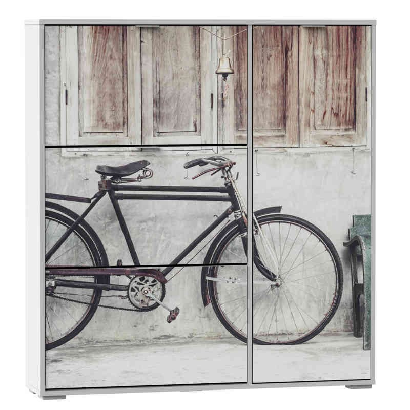 Zapatero bicicleta 120x129 armario for Zapatero para bano