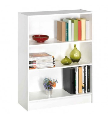 Estanteria o libreria color blanco  perla con 3 estantes