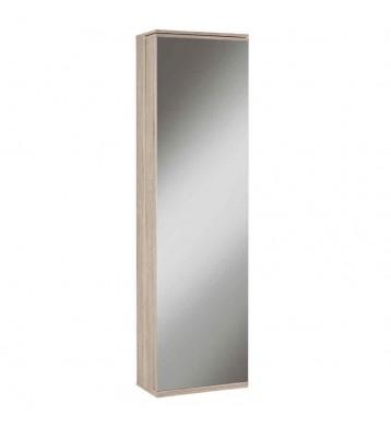 Armario zapatero con espejo 181cm roble cepillado