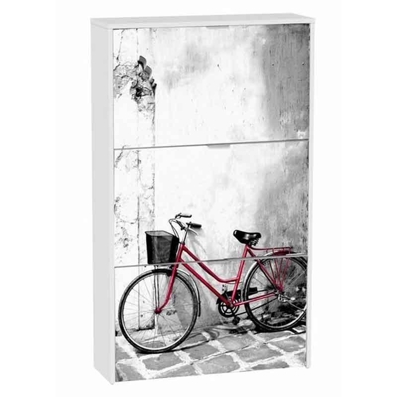 Zapatero 75x127 bicicleta 3 baldas