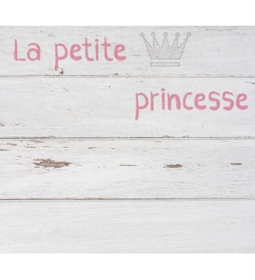 Cabezal infantil blanco 110x90cm, Princesa