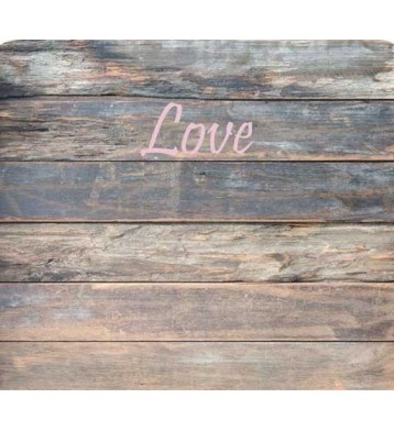Cabezal infantil madera 110x90cm, Love