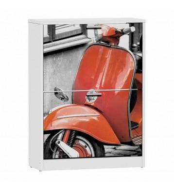 Zapatero 2 puertas blanco 82x60cm, Red Vespa