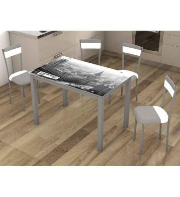Mesas de cocina funcionales econ micas miroytengo for Mesa cristal 110 x 70