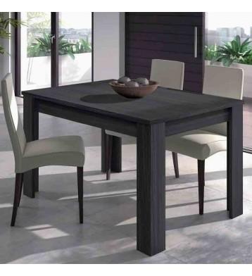 Mesa de comedor extensible gris ceniza