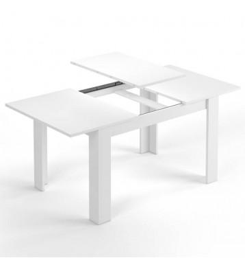 Mesa de comedor extensible blanco brillo