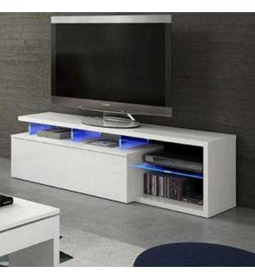 Mesa TV LED 150cm blanco brillo