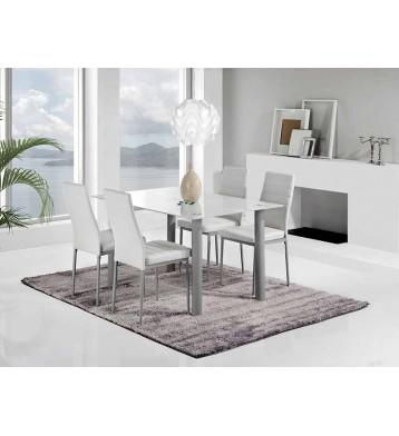 Mesas fijas y extensibles para comedor salon baratas for Mesa salon blanca