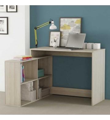 Mesa escritorio con estanteria baja. Roble Shannon