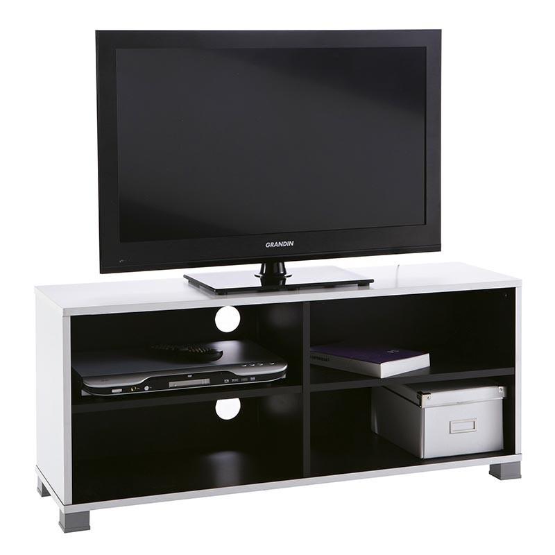 Mesa de TV 100cm. Blanco y negro