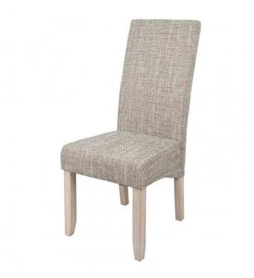 Pack 4 sillas color arena altas con estructura de pino