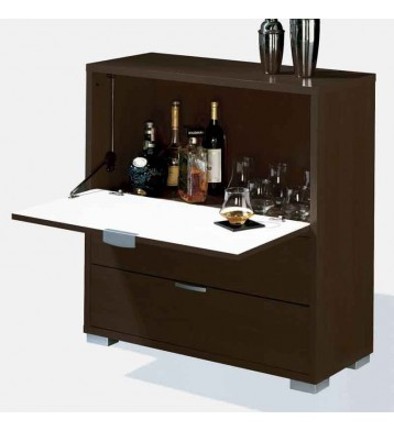 Mueble-Bar con barra abatible wengué