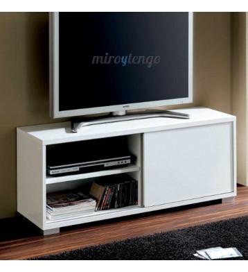 Mesa de TV Taiga Blanco brillo