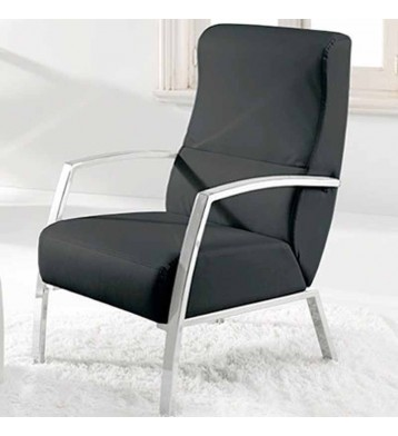 Butaca sillón en negro y cromo