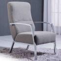Sillon butaca tapizado tela gris ceniza-arena