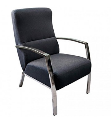 Sillon butaca tapizado tela gris marengo