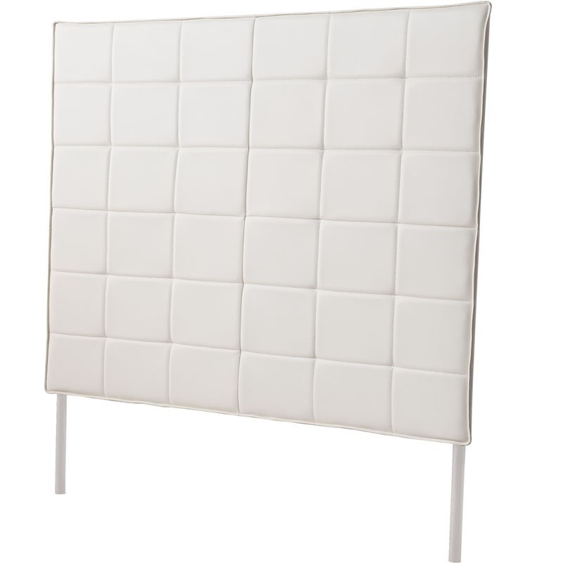 Cabezal 160cm tapizado polipiel blanco