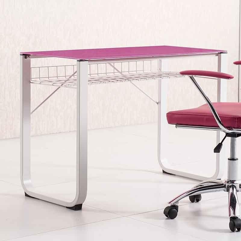 Mesa de estudio rosa fucsia cristal 100x50 - Mesas estudio cristal ...