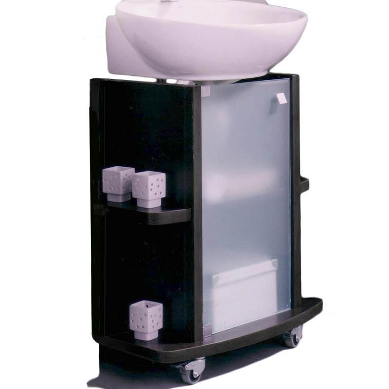 Mueble ba o bajo lavabo color wengu 65x75x42cm for Mueble bajo lavabo carrefour