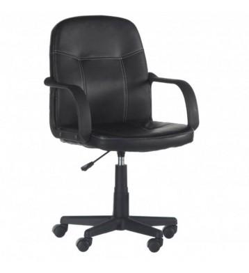 Silla de Ordenador Desk en color negro tapizada en polipiel