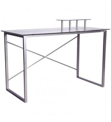 Mesa de Ordenador Vilma con superficie transparente