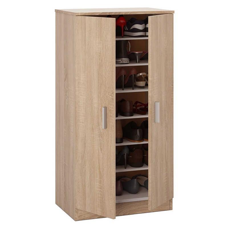 Armario zapatero roble 108x55x36 miroytengo - Zapatero interior armario ...