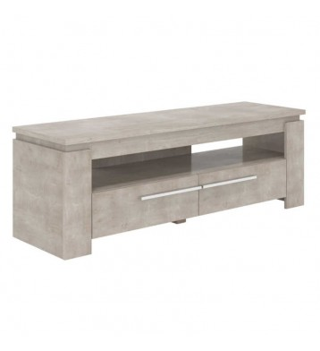 Mesa TV en color roble champagne 47x140x42 cm