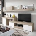 Mueble para sal n comedor en color sable y blanco for Carrito bano conforama