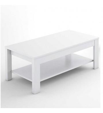 Mesa de centro elevable Trend para salon color blanco 42X110 cm