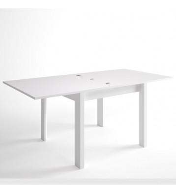 Mesa de salón comedor cuadrada extensible Trend blanca 90x90-180x76 cm