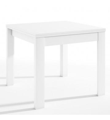 Mesa de salón comedor extensible blanca 90-180x76 cm