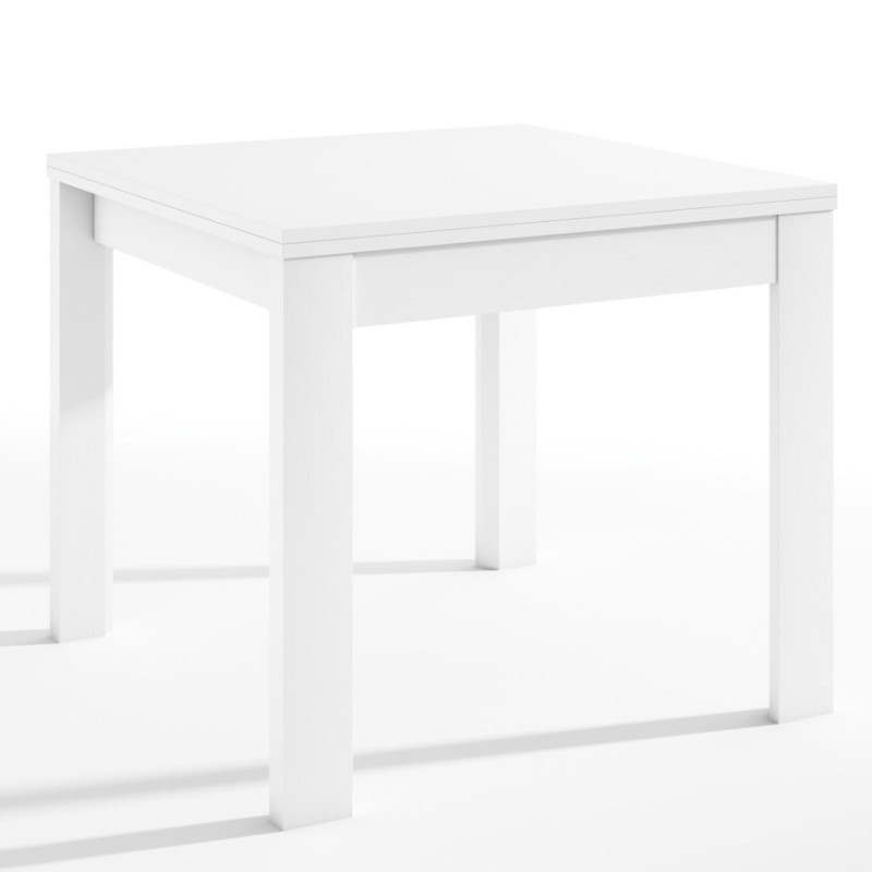 mesa extensible blanca de sal n comedor 90x90 180 cm