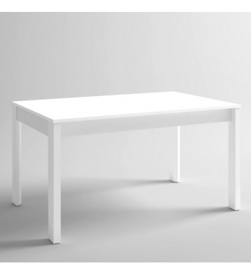 Mesa extensible Malmo blanca para salón comedor 140-200x74 cm