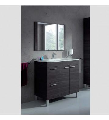 Mueble de baño con espejo con lavamanos (opcional) gris ceniza