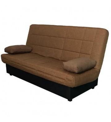 Sofá cama en color marrón