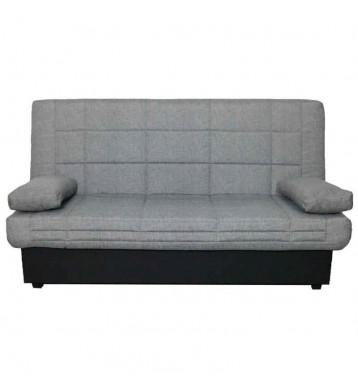 Sofá cama acabado textil en color gris
