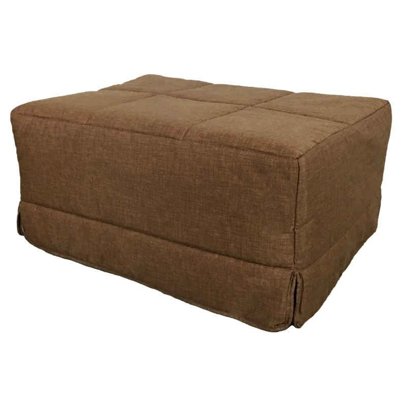 Pouf cama convertible en color marrón