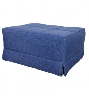 Pouf cama convertible. En color azul