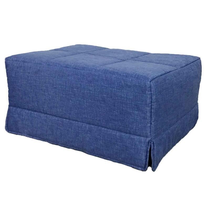 Pouf cama convertible. En color azul