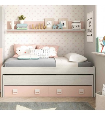 Pack habitación juvenil blanco y rosa
