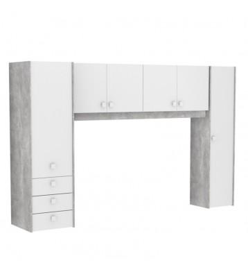 Armarios puente Concrete diseño industrial 183x300 cm