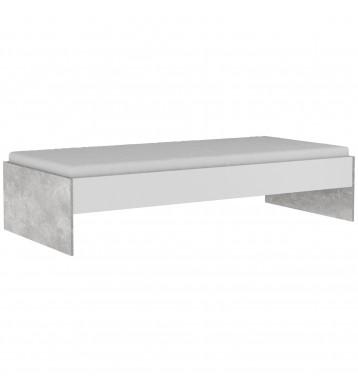 Cama Concrete estilo industrial 90x200 cm NO incluye somier ni colchón